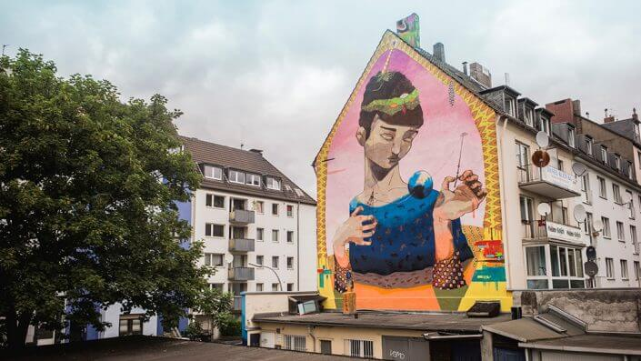 "Acidum, ""Brincando de Deus"", 2015, Vincenzstraße, Foto: Robert Winter"