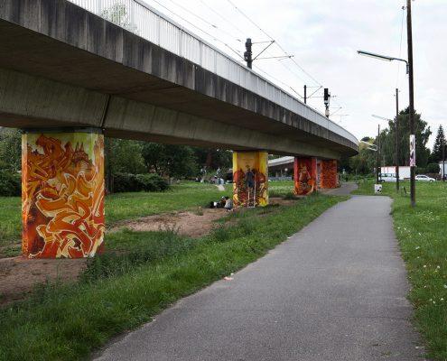 Mittwochsmaler + Friends, 2015, Bahntrasse Nippes, Foto: Karla Windberger