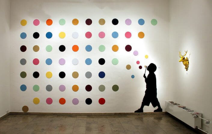 "30works Galerie: L.E.T., ""Hirst Bubbles"", Installation, Foto: 30works Galerie"
