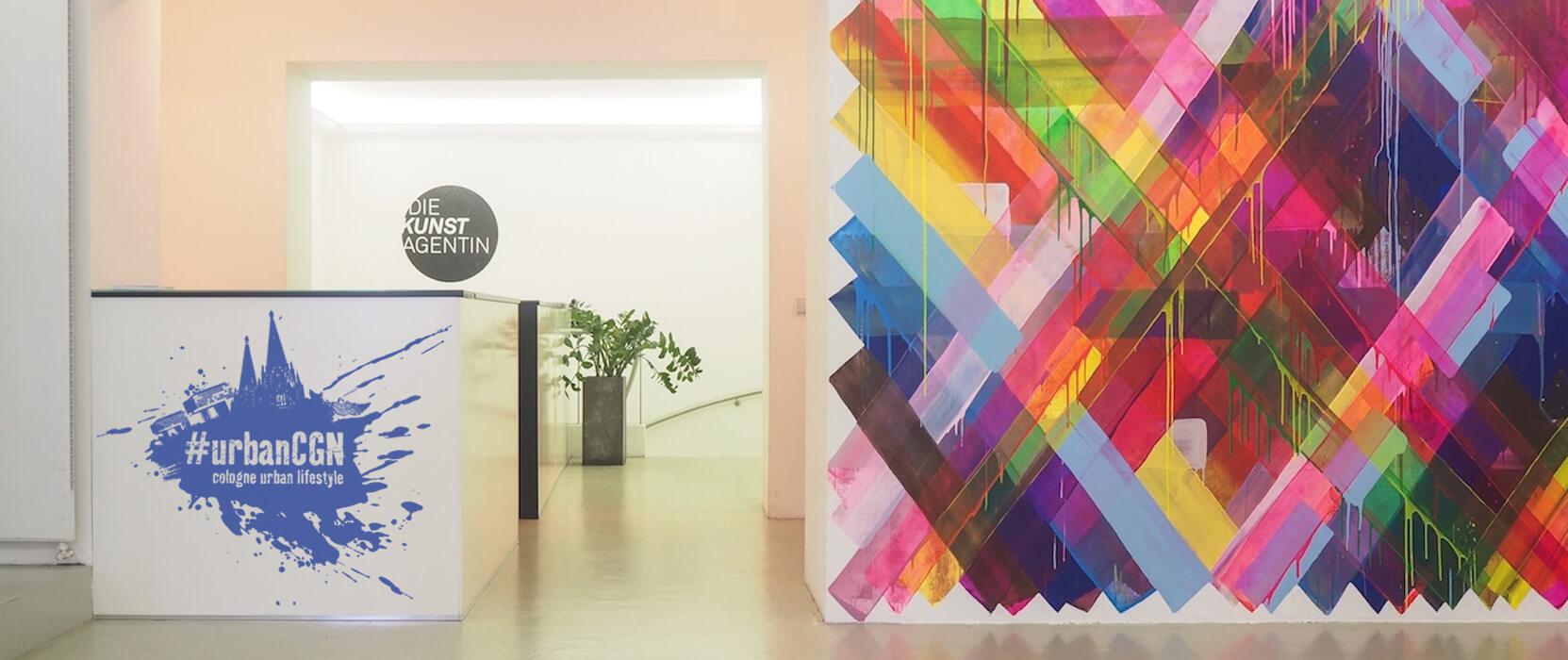 "Maya Hayuk, Solo Show ""Alles klar"", Mural in der Galerie, 2014"
