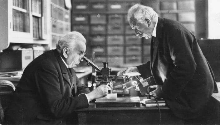 Brüder Lumière, Deutsches Filminstitut: Die Brüder Lumière 1895, die Erfinder des Cinématographen (Foto: Deutsches Filminstitut, Frankfurt)