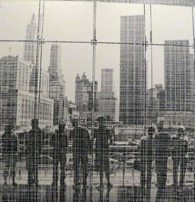 Claude Roegiers - NY – 2016 - Fotografie, Mischtechnik, Öl auf Leinwand