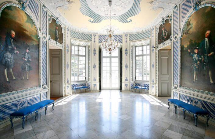 Schloss Falkenlust, unterer Salon. ©Horst Gummersbach