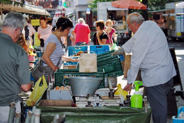 Wochenmarkt in Deutz - Wochenmärkte in Köln