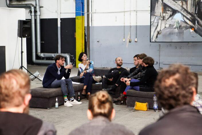 Artist Talk, CityLeaks Festival Center, 2015, Foto: Karla Windberger