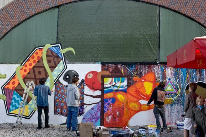 Live-Painting, CBE, CityLeaks 2011, Foto: Silviu Guiman. CityLeaks Festival