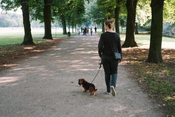Jacqueline Eva-Marie Petrich mit Dachshund Henry - Urlaub mit Hund in Köln