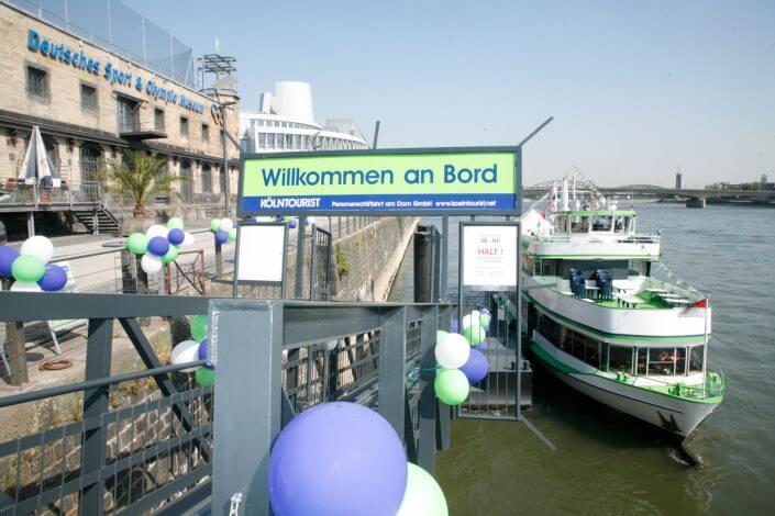 Schiffrundfahrt auf dem Rhein ©Kölntourist Personenschiffahrt am Dom GmbH