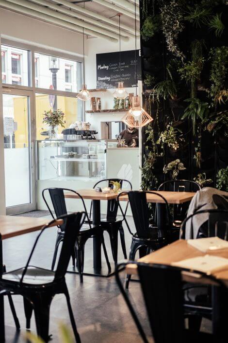Glutenfrei Essen in Köln | Edelgrün | Interieur