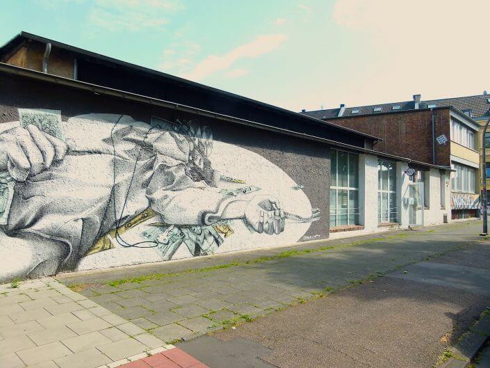 Atelierzentrum Ehrenfeld, Mural von Claudio Ethos, 2015, Foto: Sascha Klein
