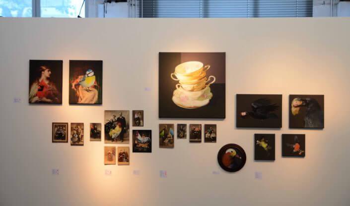 """Arbeiten von Anja Wülfing in der Ausstellung """"Gruppe 69"""", 2016, Foto: Selma Lampart"""