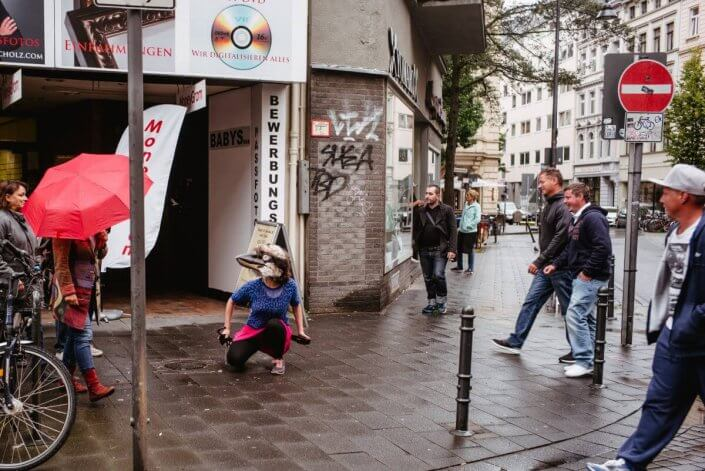 CityLeaks Urban Art Festival 2019 - Performance von Sonia Franken, Interacting Day, CityLeaks 2017
