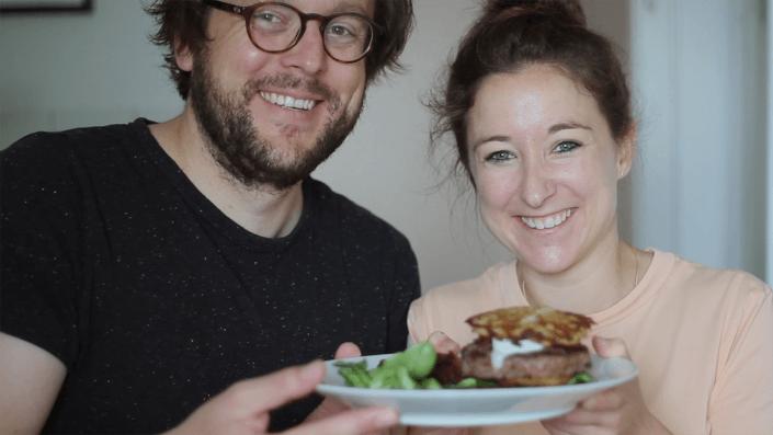 Mein Köln. Mein Rezept. | Kölscher Rievkooche Burger | Kristin Theile-Schürholz & Steffen Kirchhoff