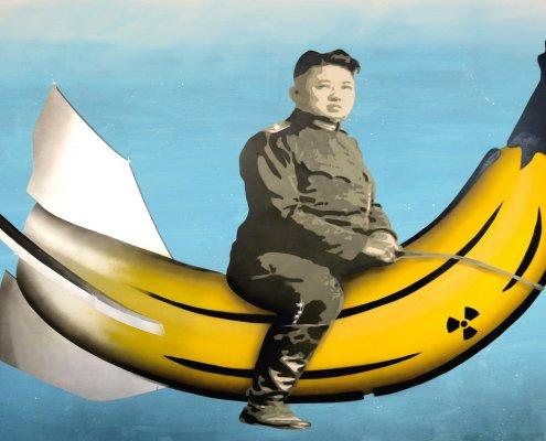 Museumsnacht Köln 2019: Ritt auf der Atomrakete, ©Thomas Baumgärtel der Bananensprayer