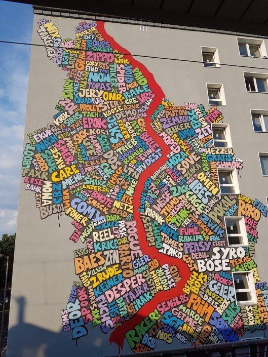 Kölner Graffitikarte, 2019, Bahnstation Hansaring, Foto: Sascha Klein