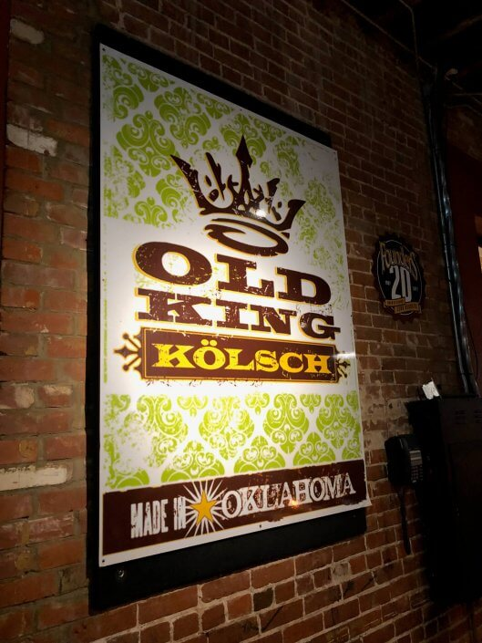 Old King Kölsch | Bricktown Brewery, Oklahoma City, Oklahoma, USA
